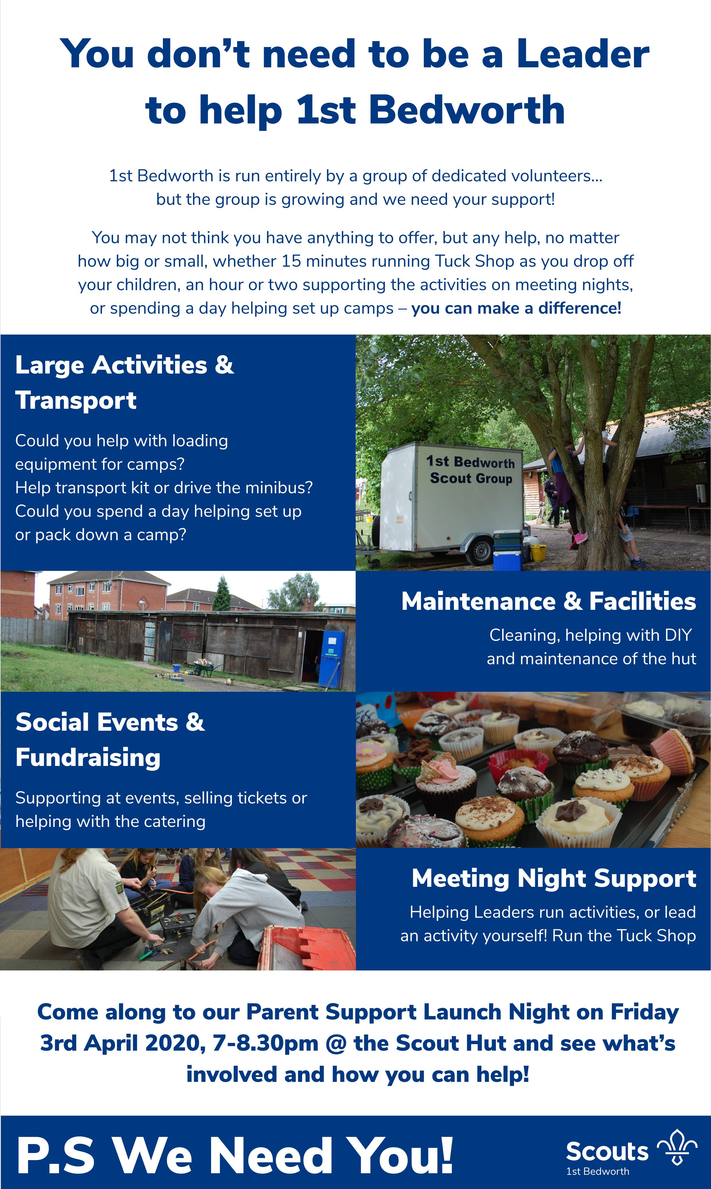 Parent Support & Adult Volunteer Poster